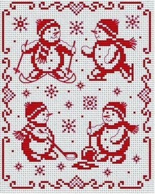 Вышивка - новогодние схемы