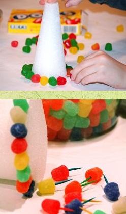 Дед мороз из конфет своими руками к