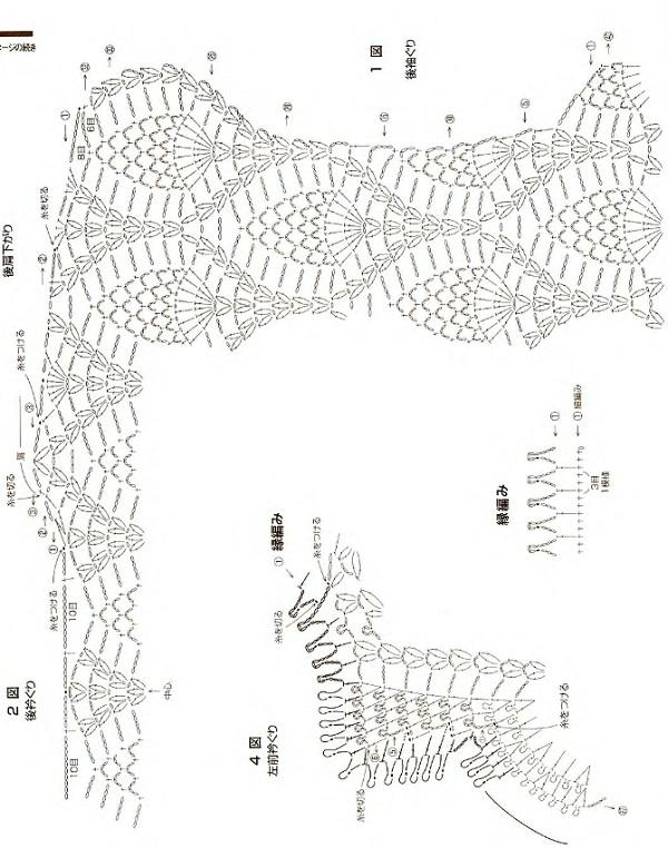 Вязание полукруглой шали спицами 95