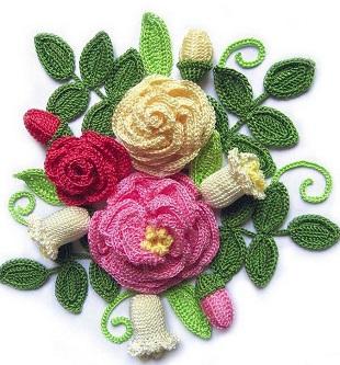 Связать цветы крючком