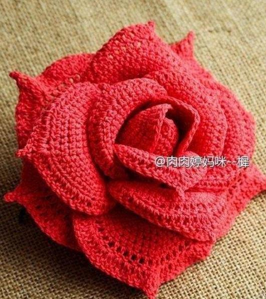 Роза крючком схема и описание фото 918