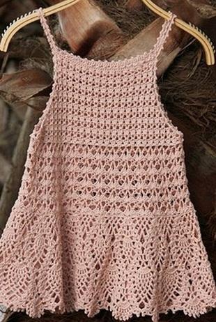 Niños crochet túnica