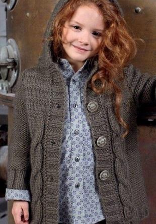 Вязание пальто для девочки