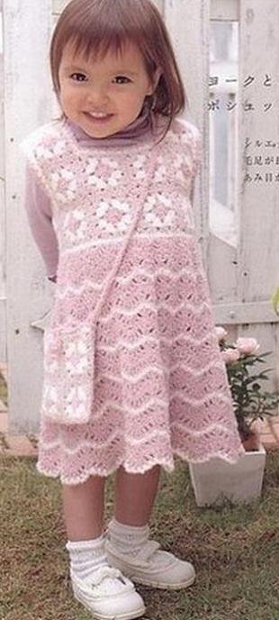 Связать платье для девочки крючком
