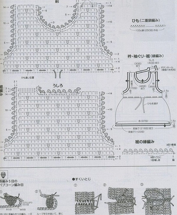 Схема вязания сарафана для