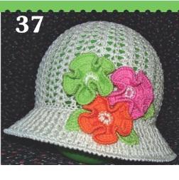 Sombrero de ganchillo para las niñas