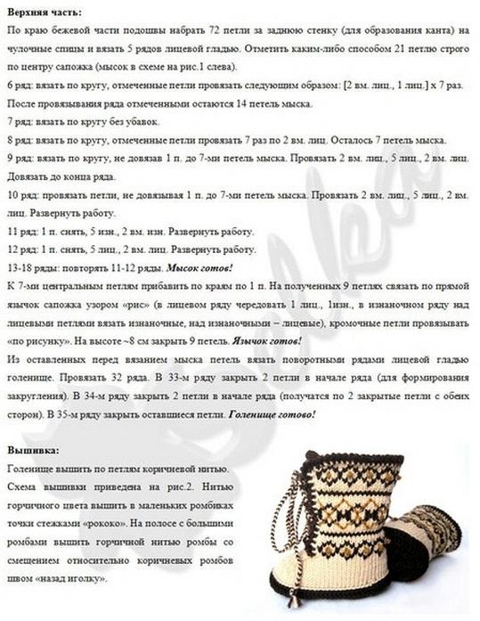 Описание вязания и схема