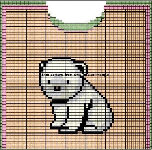 Медведь схема для вязания 445
