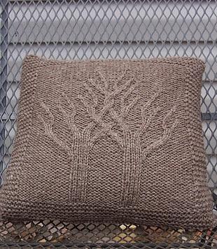 Схема подушки спицами
