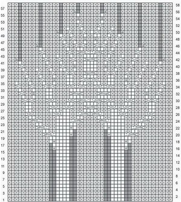 Схема вязания подушки спицами