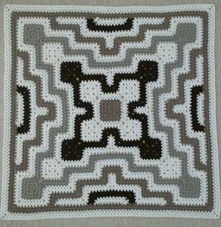 Схема пледа крючком