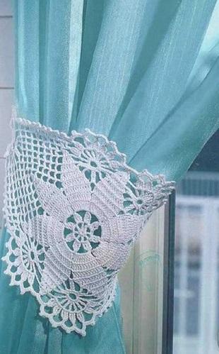 Вязание <i>филейного</i> подхвата для штор