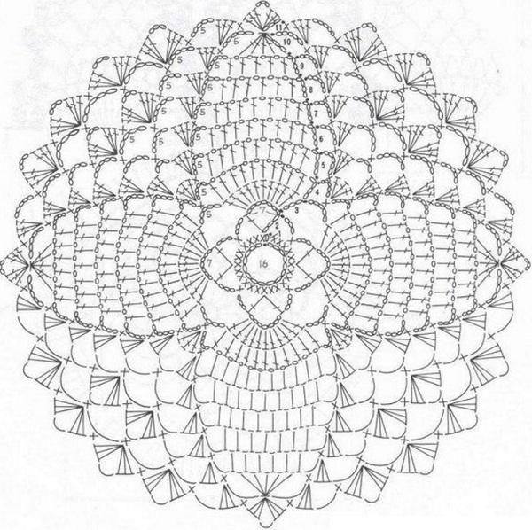 Вязание крючком подставки схемы простые