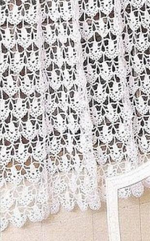 Вязание шторы крючком