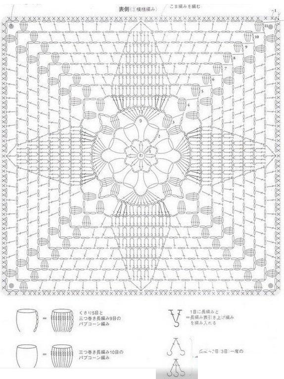 Схема вязания накидки на стул