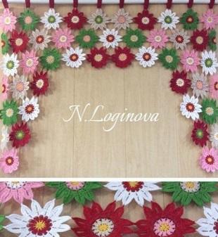 Штора из цветочных мотивов