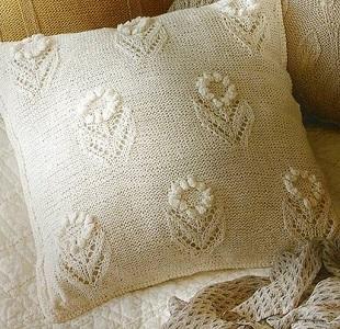 Узор для подушки спицами