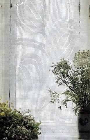 Занавески филейным узором