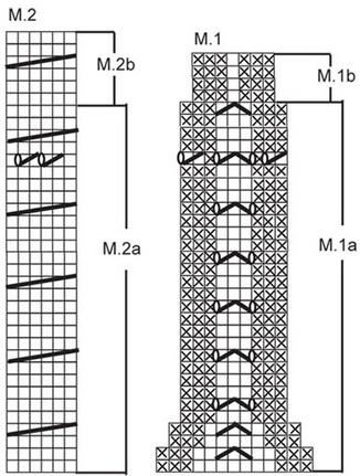 Гольфы схемы вязания