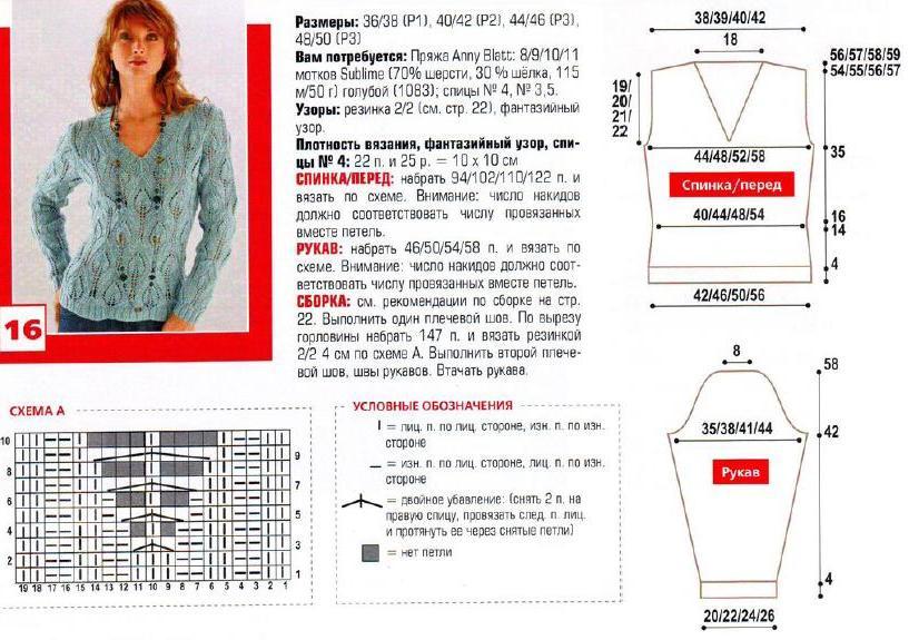 Красивое вязание спицами для женщин с описанием и схемами 56