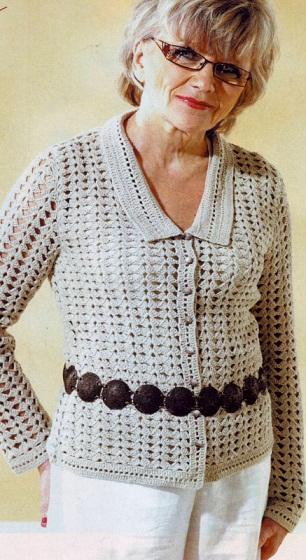 Вязание крючком - жакет
