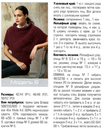 Вязание жилетки из мохера для женщин 54 размер 6319