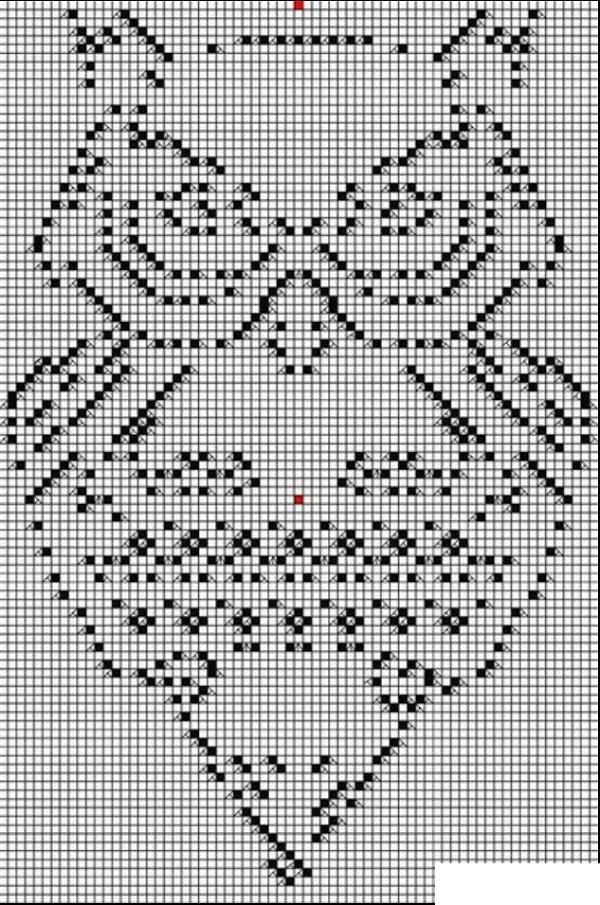 Сова филейное вязание схема