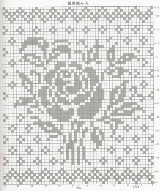 Схема вязания в технике филейное вязание