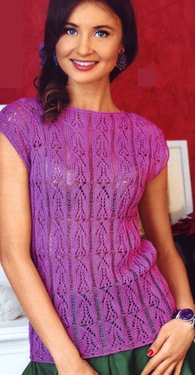 Вязание спицами - кофта