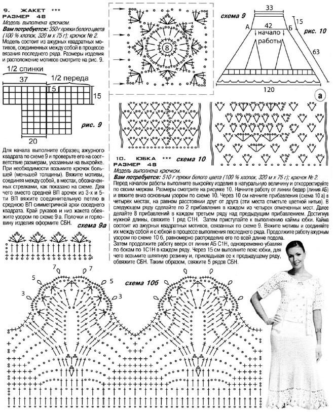 Одежда связанная крючком схемы