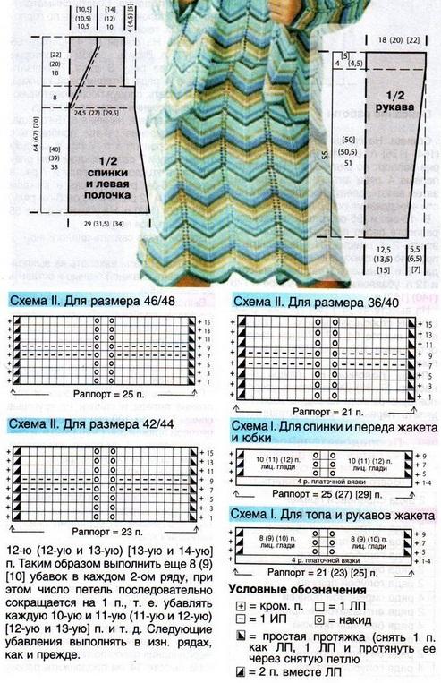 Схема вязания летнего костюма