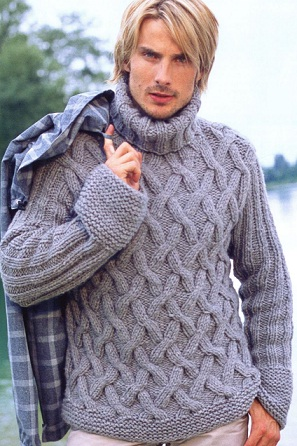 Мужские свитера со схемами