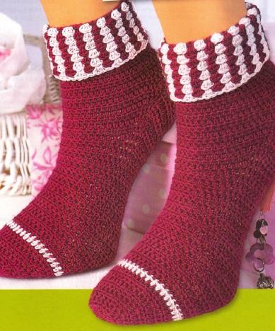 Как связать носки крючком