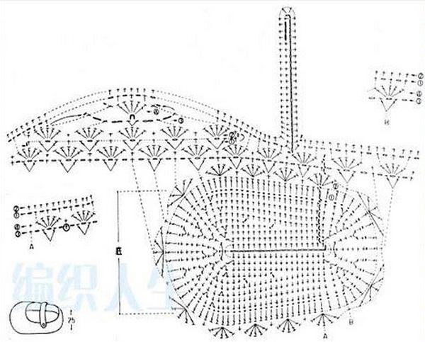 Схема вязания пинеток крючком.