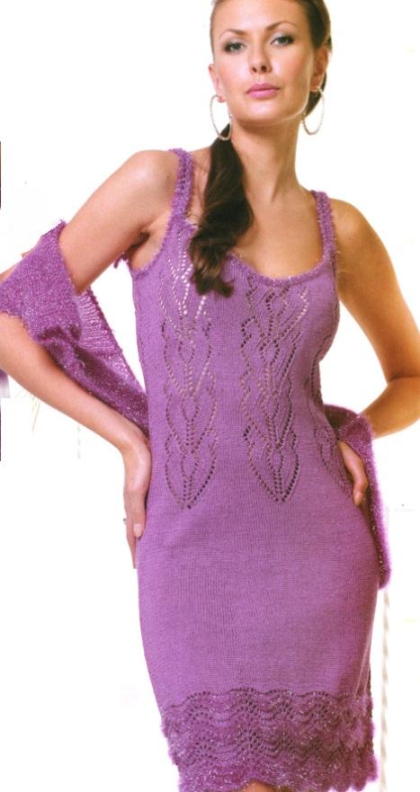 Платье вязаное крючком - схемы