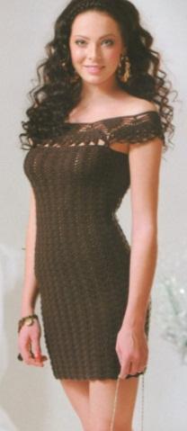 Мини платье крючком