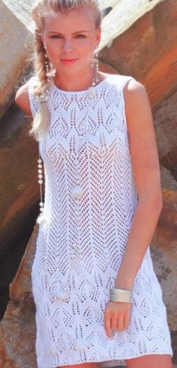 Схема вязания летнего платья .