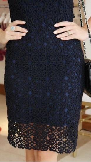 Квадратный мотив для платья
