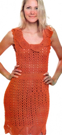 Как связать ажурное платье