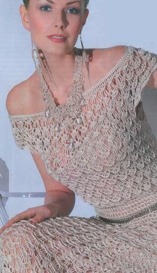 Вязание крючком платья схемы из журналов