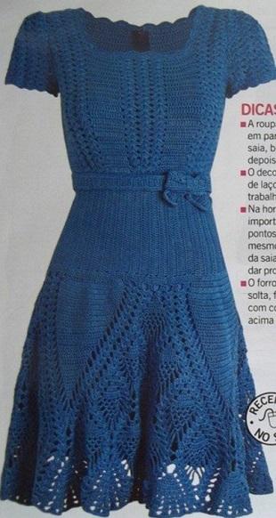Голубое платье orion