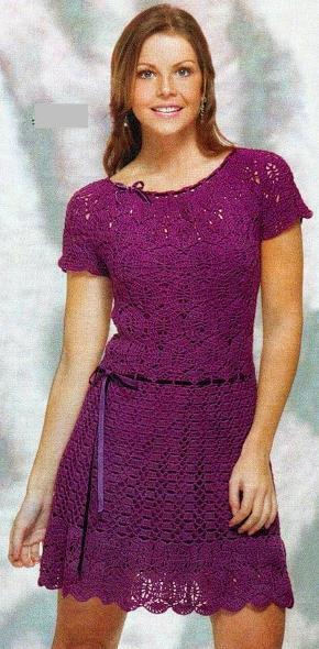 Платье 2011 крючком.