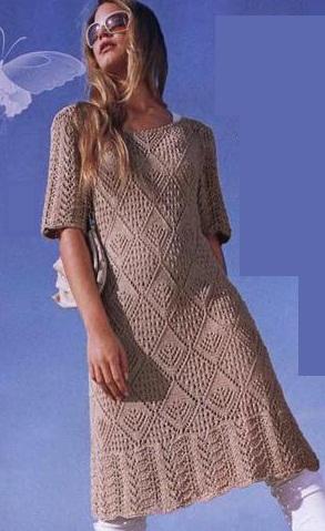 Вязаное платье схема