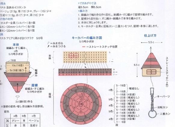 Схема вязания брелка крючком.
