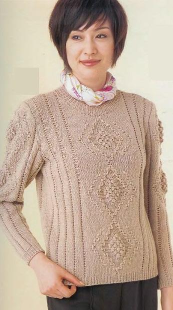 Описание пуловера спицами