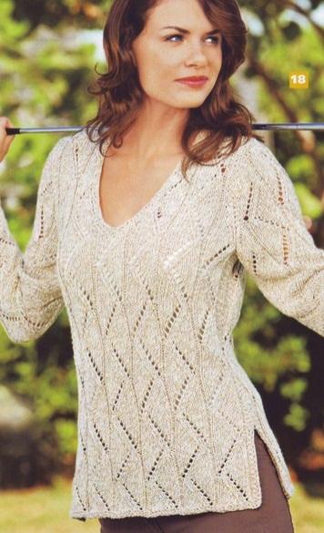 Вязаный пуловер схема