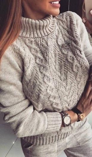 Подборка узоров для вязания пуловера