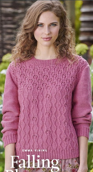 Вязание пуловера рельефным узором спицами