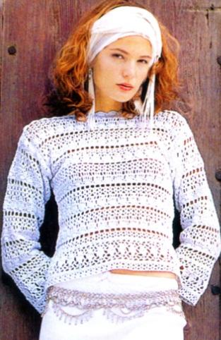 Схема вязания пуловера .