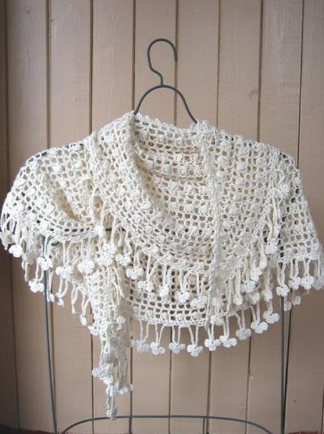 Вязание полукруглой шали спицами 68
